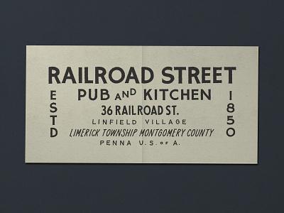 N  024   Jessie Jay Design For Railroad Street design vector lockup heritage sans-serif signpainting antique timeless retro branding identity philadelphia logo typography vintage