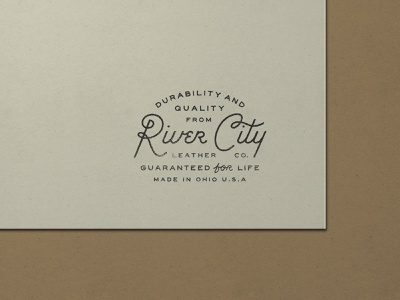 Nº 027 | Jessie Jay Design For River City Leather leather ohio design vector seal badge lockup heritage script sans-serif signpainting antique timeless retro branding identity philadelphia logo typography vintage
