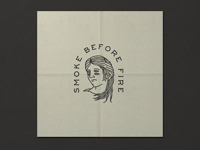 Nº 028   Jessie Jay Design For Smoke Before Fire illustration design vector seal badge lockup heritage signpainting antique timeless retro branding identity philadelphia logo typography vintage