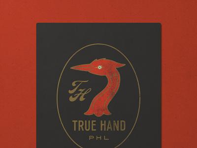 Nº 029   Jessie Jay Design For True Hand illustration design vector seal badge lockup script heritage sans-serif signpainting antique timeless retro branding identity philadelphia logo typography vintage