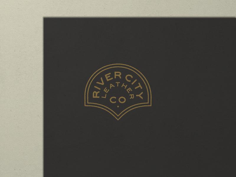 Nº 031 | Jessie Jay Design For River City Leather design vector seal badge lockup heritage sans-serif antique timeless retro branding identity philadelphia logo typography vintage