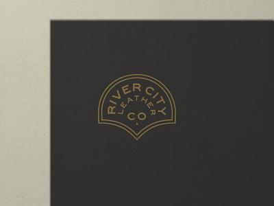 Nº 031   Jessie Jay Design For River City Leather design vector seal badge lockup heritage sans-serif antique timeless retro branding identity philadelphia logo typography vintage