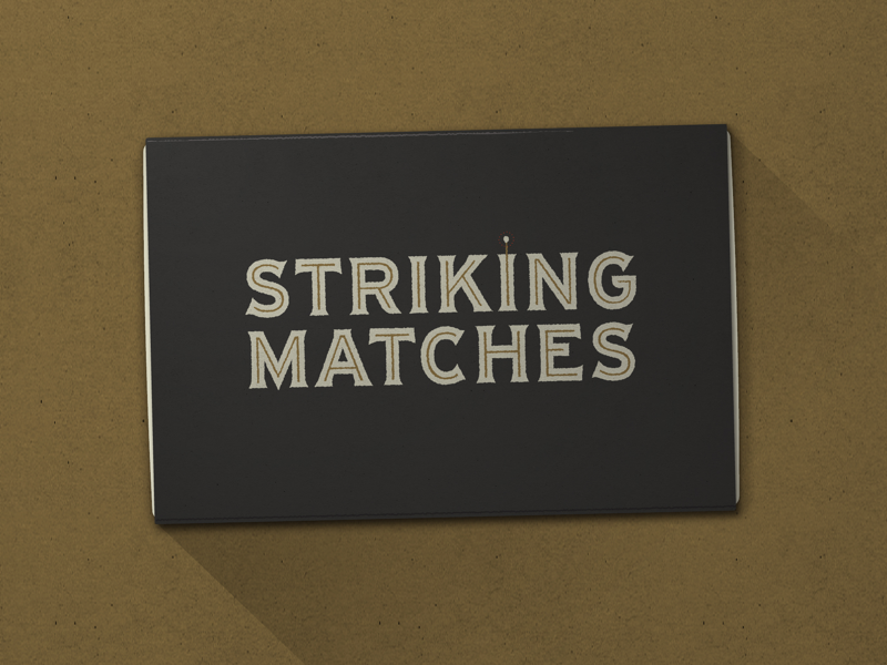 Nº 036 | Jessie Jay Design for Striking Matches deco design vector lockup heritage sans-serif signpainting antique timeless retro branding identity philadelphia logo typography vintage