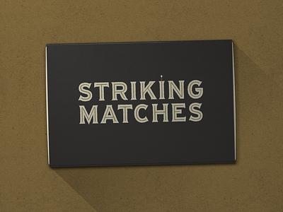 Nº 036   Jessie Jay Design for Striking Matches deco design vector lockup heritage sans-serif signpainting antique timeless retro branding identity philadelphia logo typography vintage