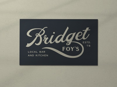 Nº 039   Jessie Jay Design for Bridget Foys script antique timeless retro branding identity philadelphia logo typography vintage