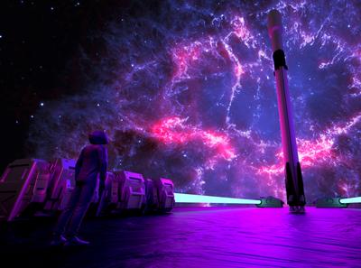 Nebula nebula spaceship 3d spacex space
