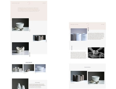 Wabi Sabi Spec - Squarespace Design Mock up