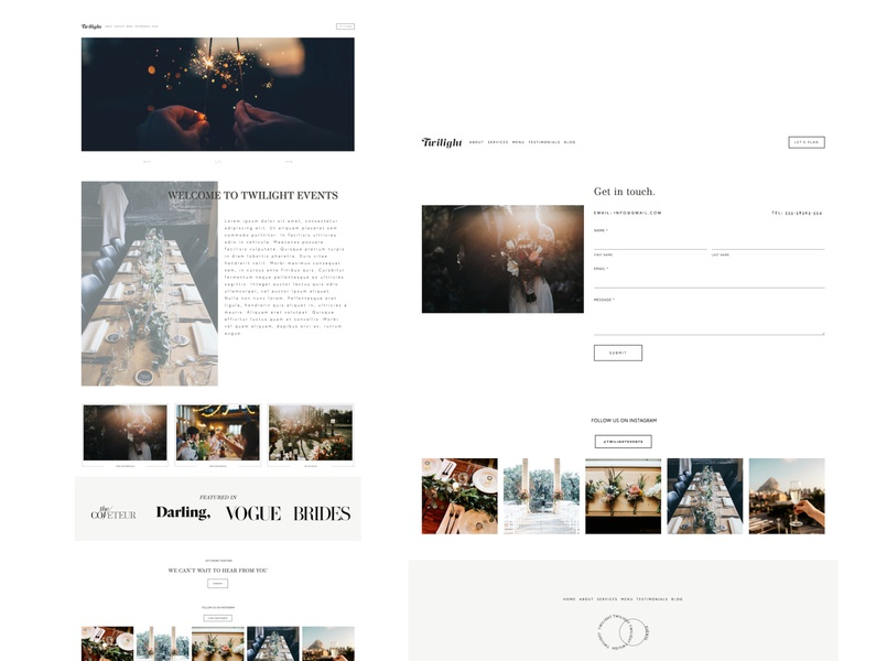 Twilight Spec - Squarespace Design Mock Up