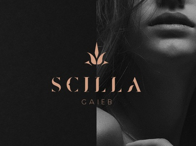 Scilla Gaieb - Branding flower logo cosmetics brand make up brand beauty logo beauty brand beauty cosmetics flower identity logotype logo branding