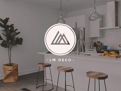 LM Deco interior designer interior design architecture design architecture logo architecture architect identity design brand logo logotype branding
