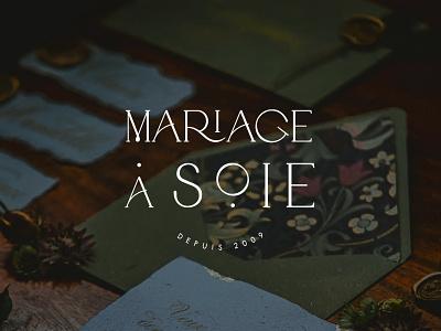 Mariage a Soie font typography lettering letter design brand identity logotype logo branding wedding planner wedding