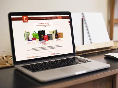 Embal Plus website orange identity rebranding ui ux user eshop bag sale packaging ecommerce shop