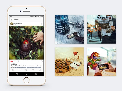 Hearthstone on Instagram video photography photo mobile irl hearthstone gaming game branding blizzard