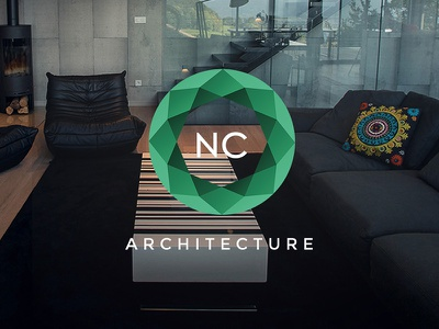 NC Architecture - Branding luxury property artist architect house consulting architecture logotype logo brand branding