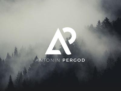 Antonin Pergod branding vintage photographer photo outdoors nature logotype logo identity filmmaker camera card business