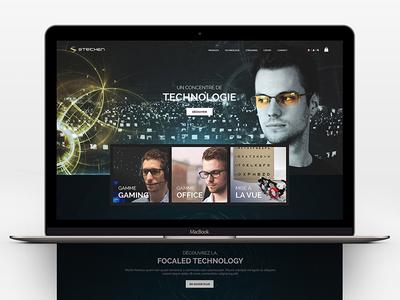 Steichen Optics online shop technology responsive website shop ecommerce eshop video game gaming esport glasses
