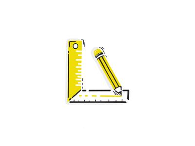 DIY hand drawn icon ux measure pen diy