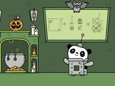 Spooky DIY costumes vector design character illustration diy candy scary mummy gost halloween pumpkin bat spooky panda