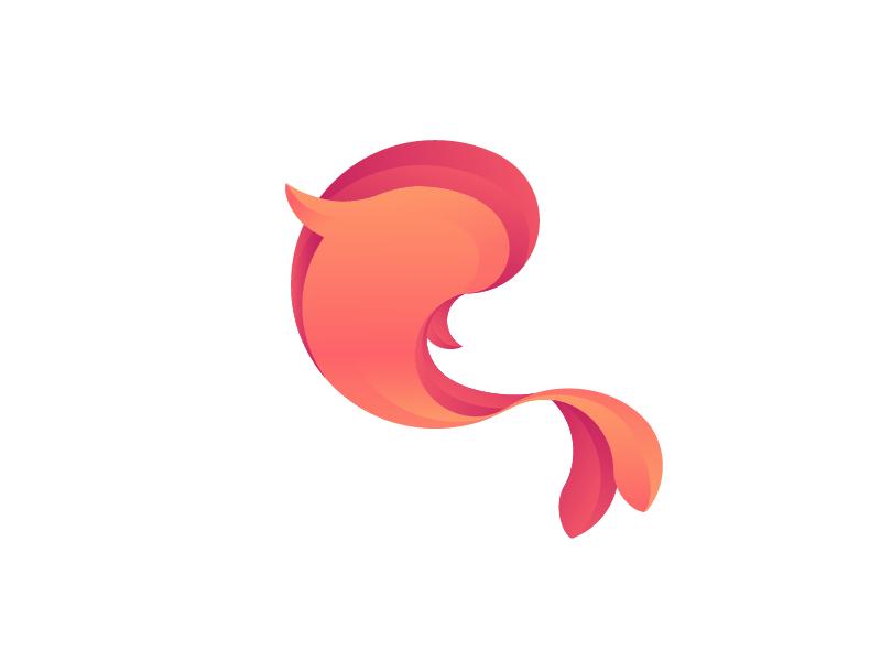 Fish Symbol gold brand gradient logo symbol fish