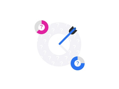 Target impact illustration design ux ui illustraiton arrow chart goal target