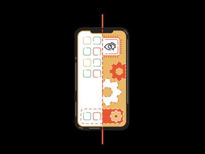 Core UI vector mechanism search cog iphone app ui