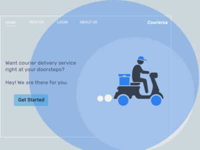 #dailyUI 003 canva figmadesign design courier service landing page design courier dailyui