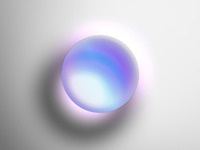 One circle layer style   pearlescent glass sphere