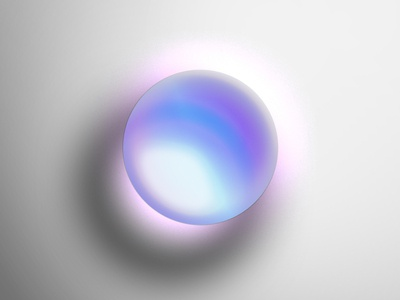 One Circle Layer Style - Pearlescent Glass Sphere