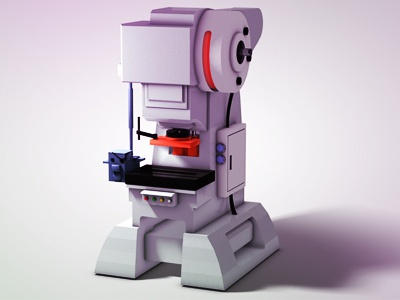 Punch Press mechanical machine punch press animation 3d modeling automatic high detail