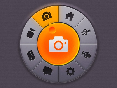 Circular Dial Rebound ui ios dial button circle orange controll er