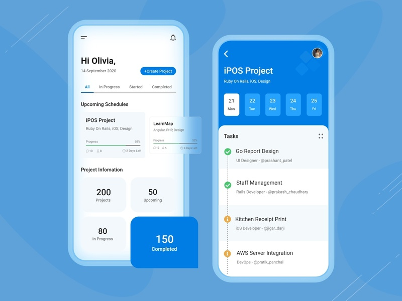 Project Management App creative ui design uiux app designer projects application design app design mobile application mobile app design task management app management app project management tool project management project uidesign