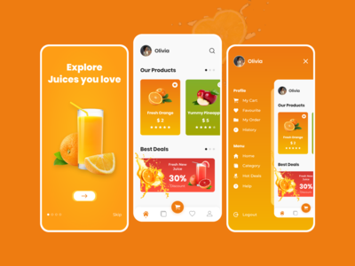 Juice App juices juice bar juice app design juice app