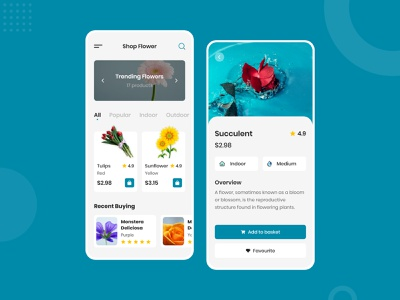 Flower App uidesign application design app designer app design uiux ui design mobile app design flower illustration flower shop mobile app flower app flower logo flower