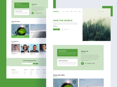 Green Energy - Landing Page nature environment green landing page design templates template homepage landingpage landing page landing green energy