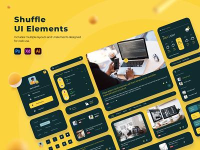 Shuffle UI Elements mobile application mobile app app design uidesign mobile app design ui design element homepage ui homepage design web design ux ui elements homepage ui elements ui element