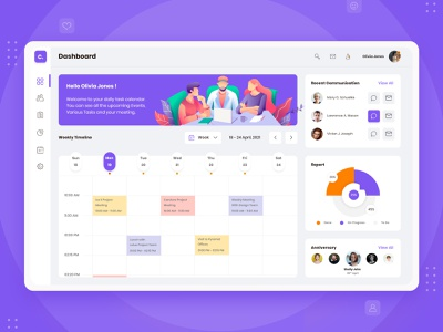 Appointment Calendar dashboard template dashboard design dashboard app dashboard ui dashboard template web page appointment booking app appointment booking appointments appointment