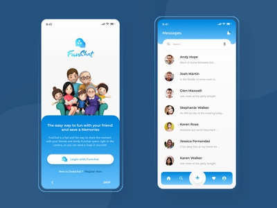 FunChat - Chat App chatting chatbot snapchat lens snapchat filter mobile app mobile application messaging message app messenger message chat app chat funchat snapchat