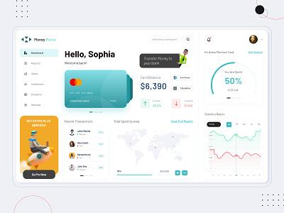 Money Mania - Finance Dashboard management wallet app money app dashboard template dashboard app dashboard ui dashboard finance business finance app finance dashboard