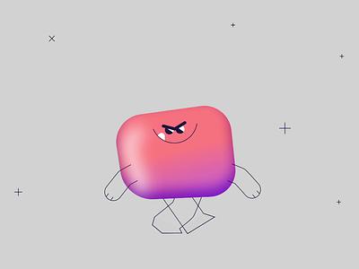 GUMonster rig rubberhose art 2d design character animation flat illustration motion