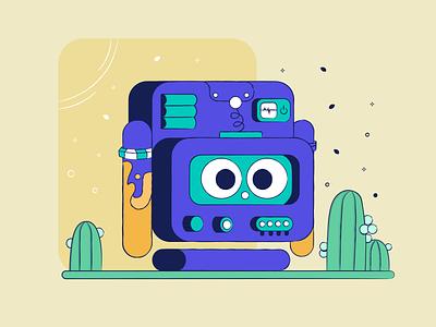 robot flat-design flat charecter robot design illustration adobe vector illustrator dribbble characterdesign artwork art
