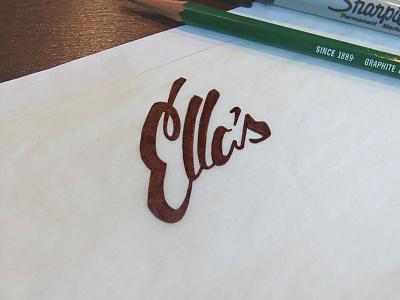 Ella's Logo logo handwritten sketch type