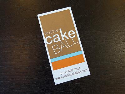 Austin Cake Ball Sticker logo sticker austin bakery