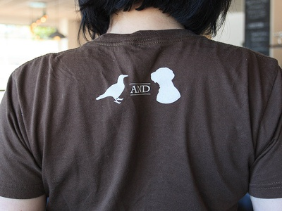 Blackbird & Henry Shirt (Back) shirt tshirt logo merch restaurant dog bird