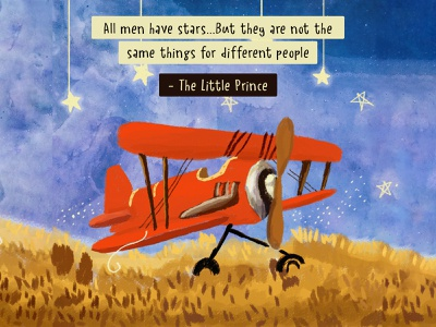 The Little Prince digital art illustration movie quotes the little prince digital illustration
