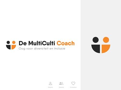 Logo - MultiCulti Coach flat branding logo illustration typography design