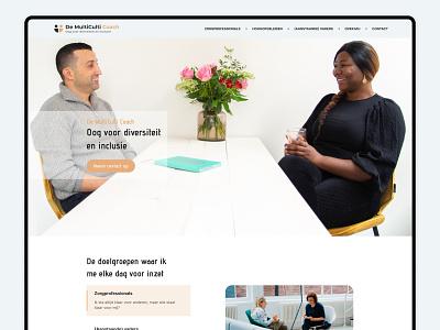 Website - MultiCulti Coach website ui ux branding