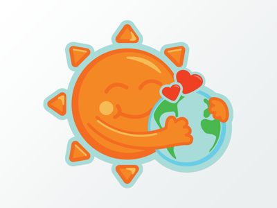 Warm Hug warmth hug summer sticker
