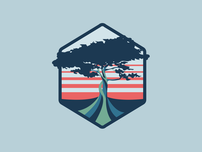 Tree icon water patch logo tree
