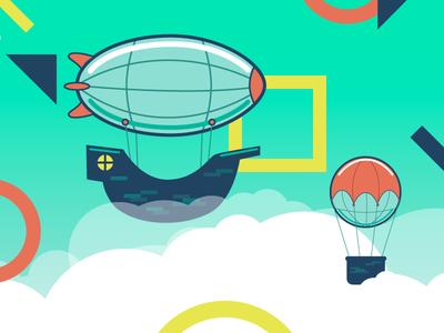Ship Shape flying illustration shapes ship