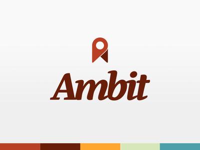 Ambit Logo palette typography identity logo
